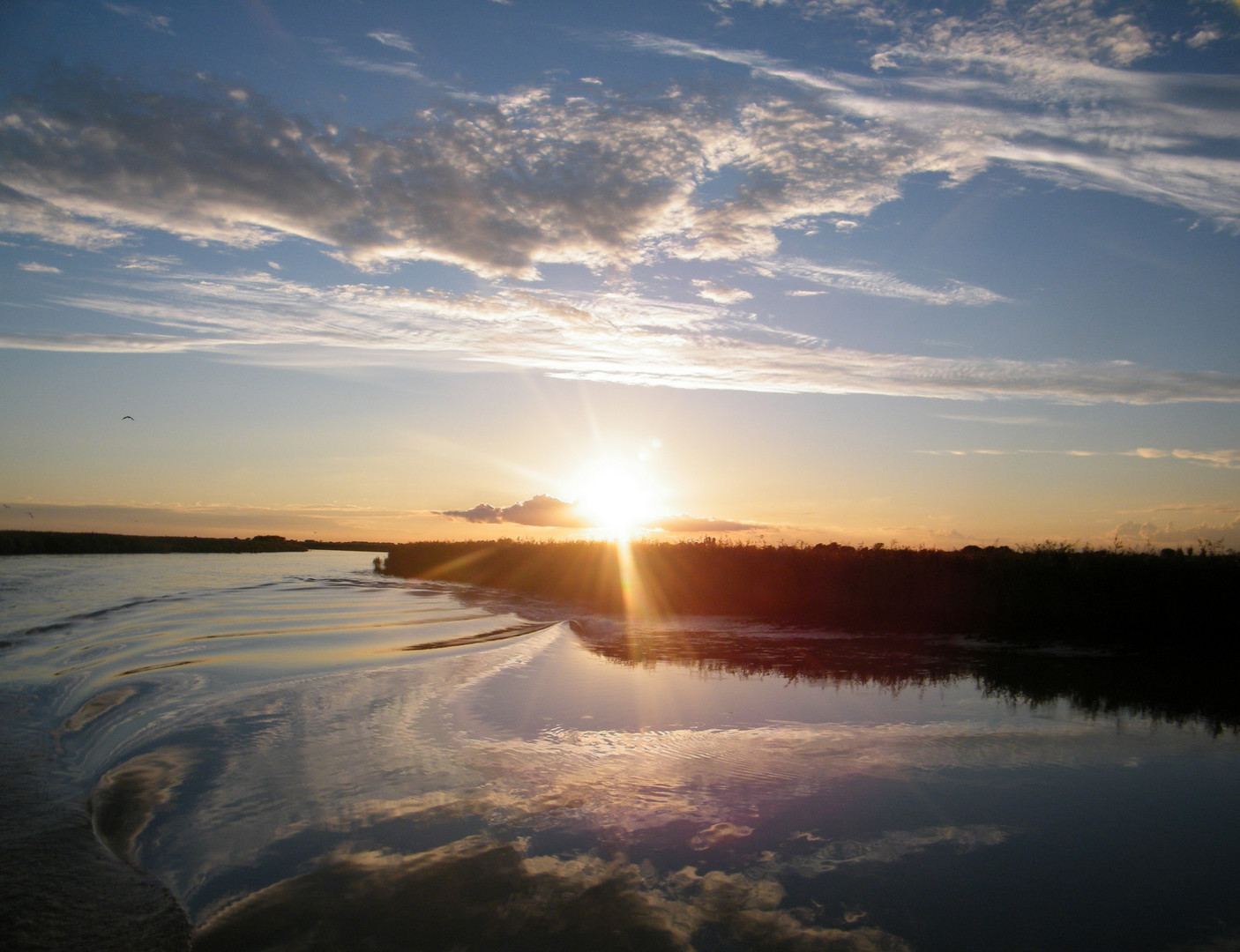 ... riflessi al tramonto ....