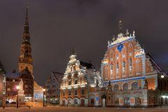 Riga - Schwarzhäupterhaus und Petrikirche