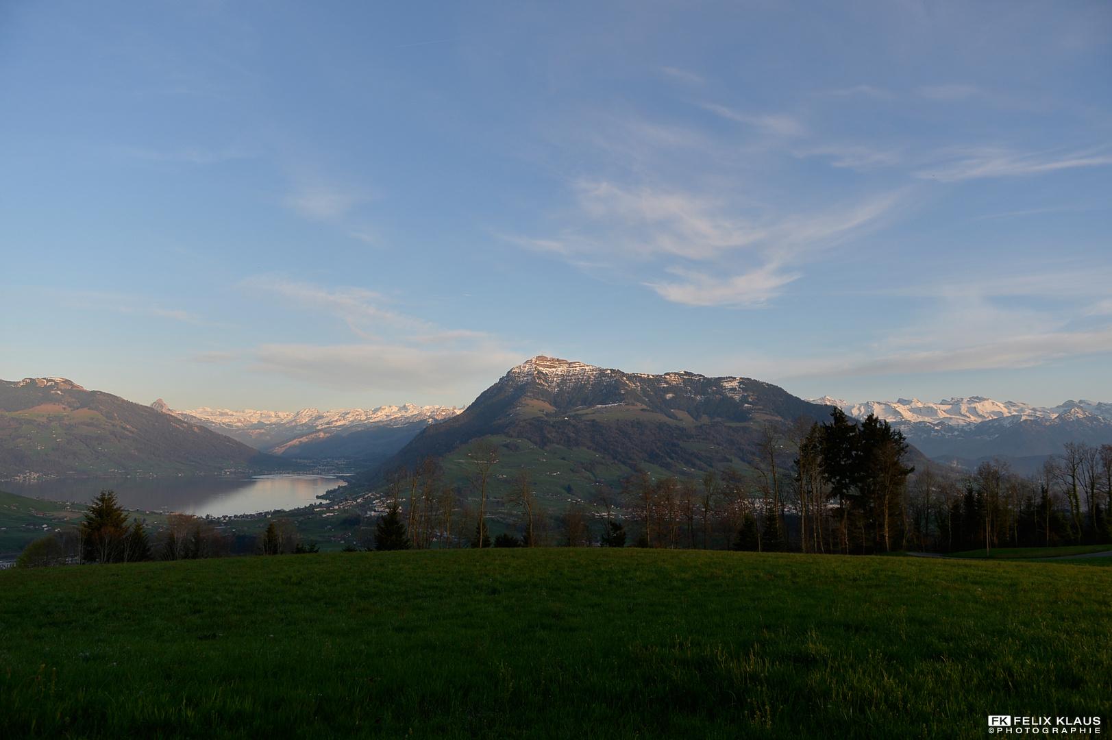 Rigi mit den Schweizer Alpen