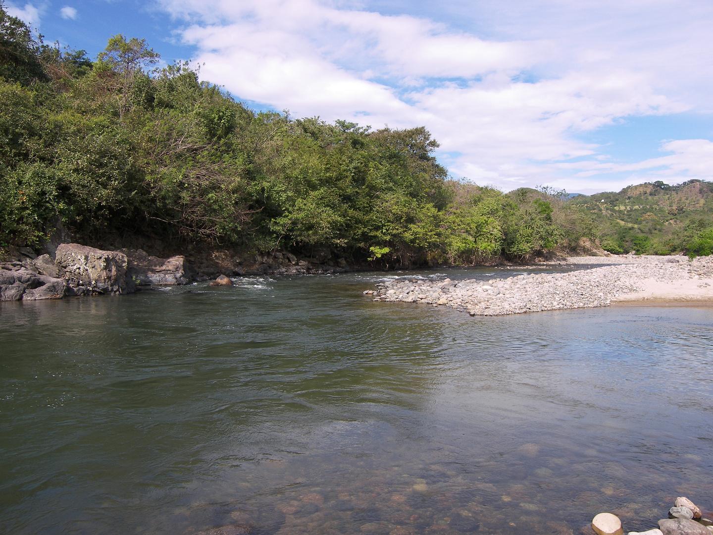 Rio en Chalatenango, el Salvador