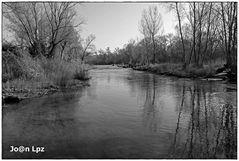 Río Segre, B/N