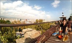 riposare sopra i tetti di Barcellona