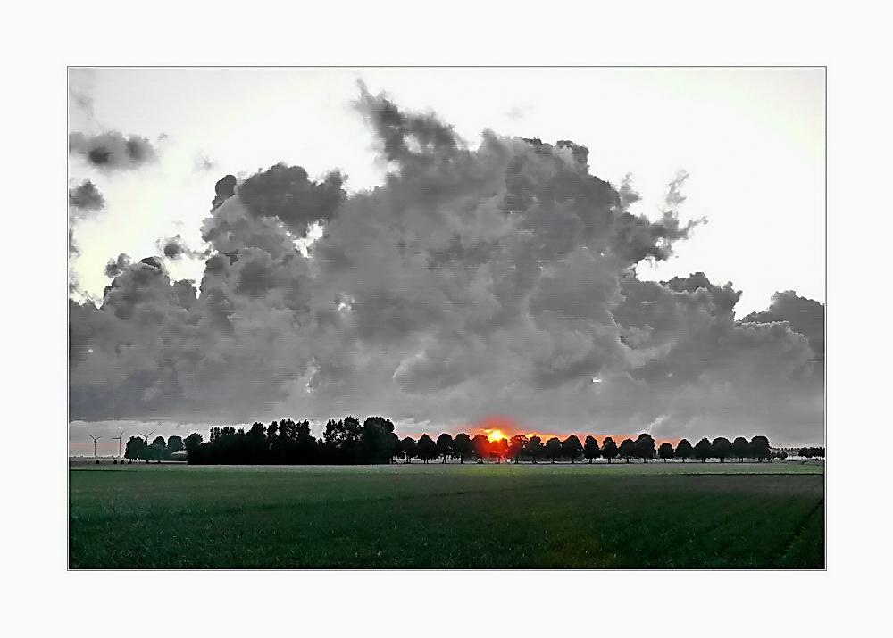 ... rising over Krommeweg ...