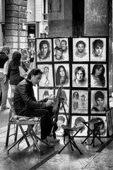Ritrattista in galleria, Milano