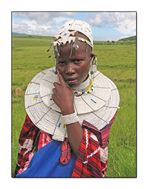 Ritratto di ragazza Masai