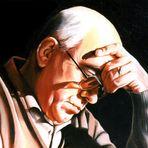 ritratto di Salvatore Meloni olio su tela 30x40 di Shikanu'