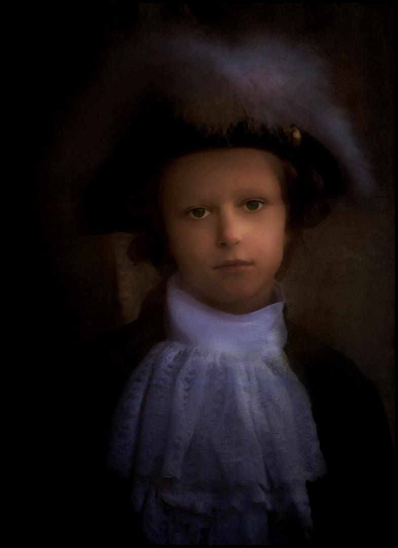 ritratto di un bambino a carnevale