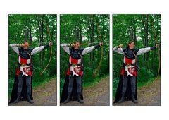 Ritter beim Bogenschiessen
