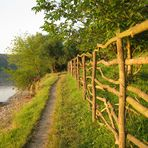 river - path - fence