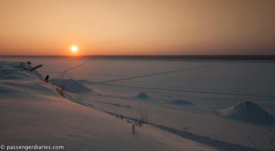 River Vilyuy at Dusk