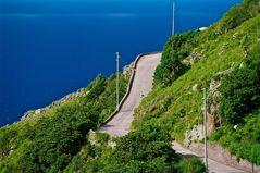 Road at the edge