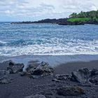 Road to Hana - Black Sand Beach'17