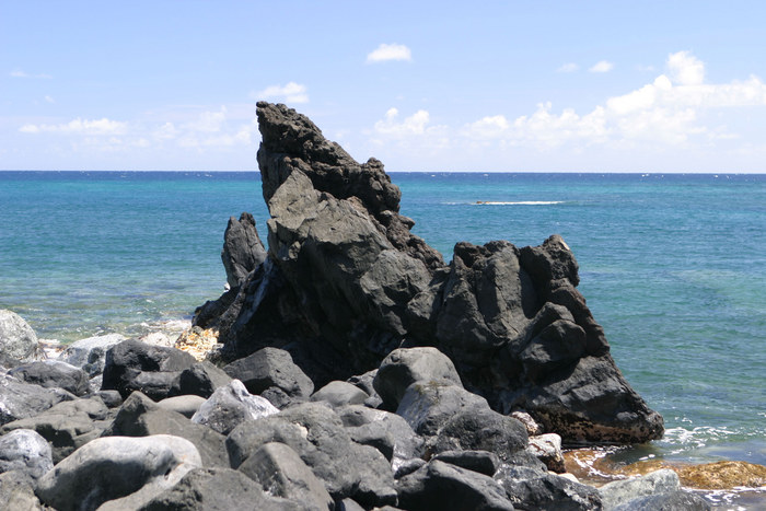 Road to Hana / Maui / Hawaii / Lava im Meer