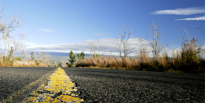 road to the volcano