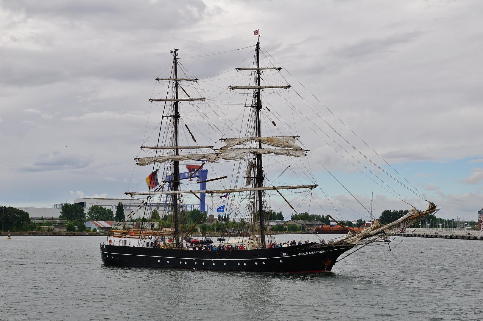 Roald Amundsen in Warnemünde