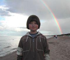 Robert mit Regenbogen
