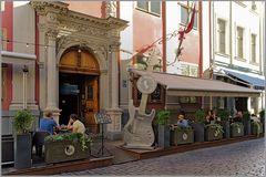 Rockcafe mit restauriertes Dekolleté