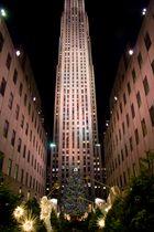 Rockefeller Center mit Big Weihnachtsbaum
