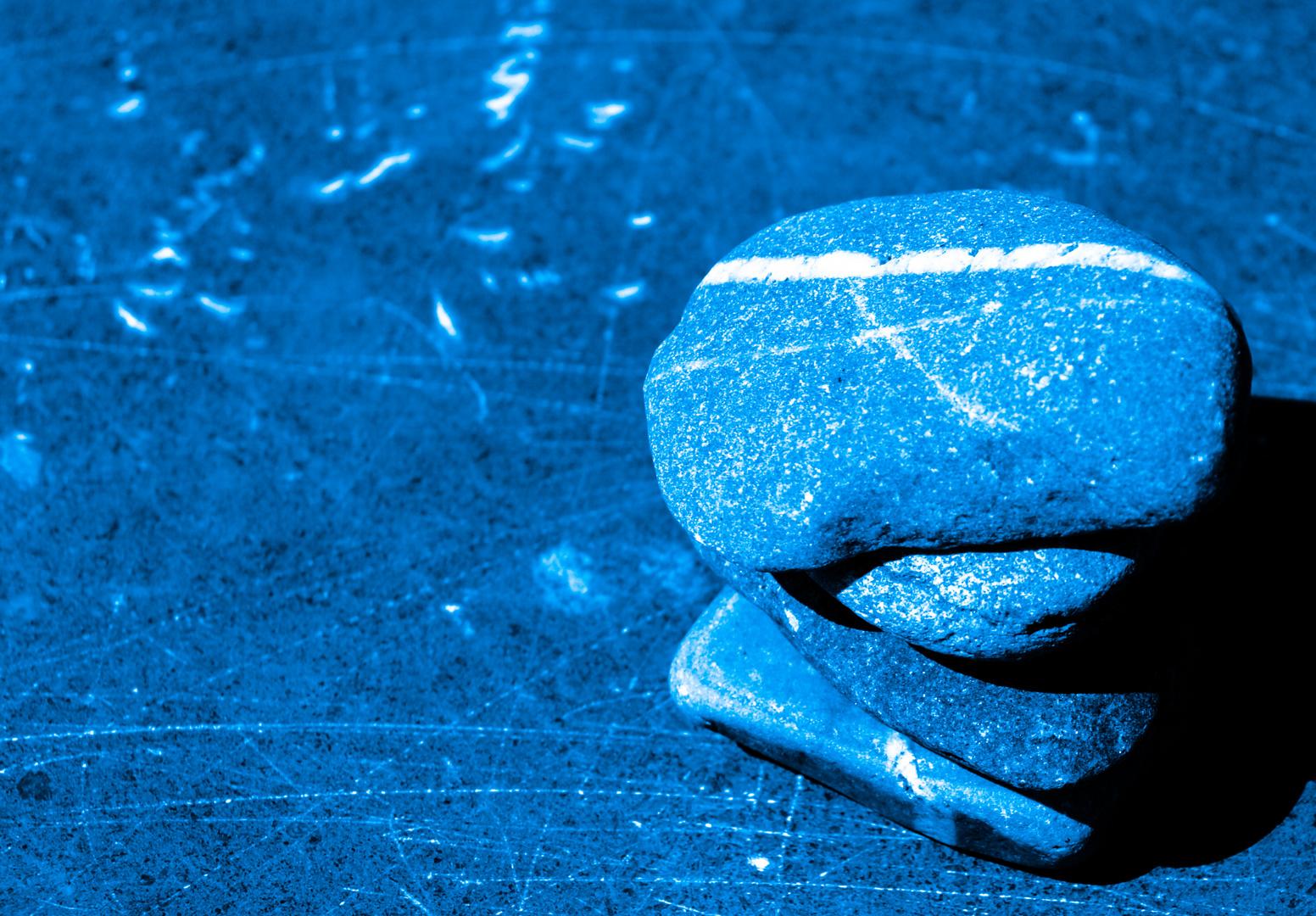 rocks in blue