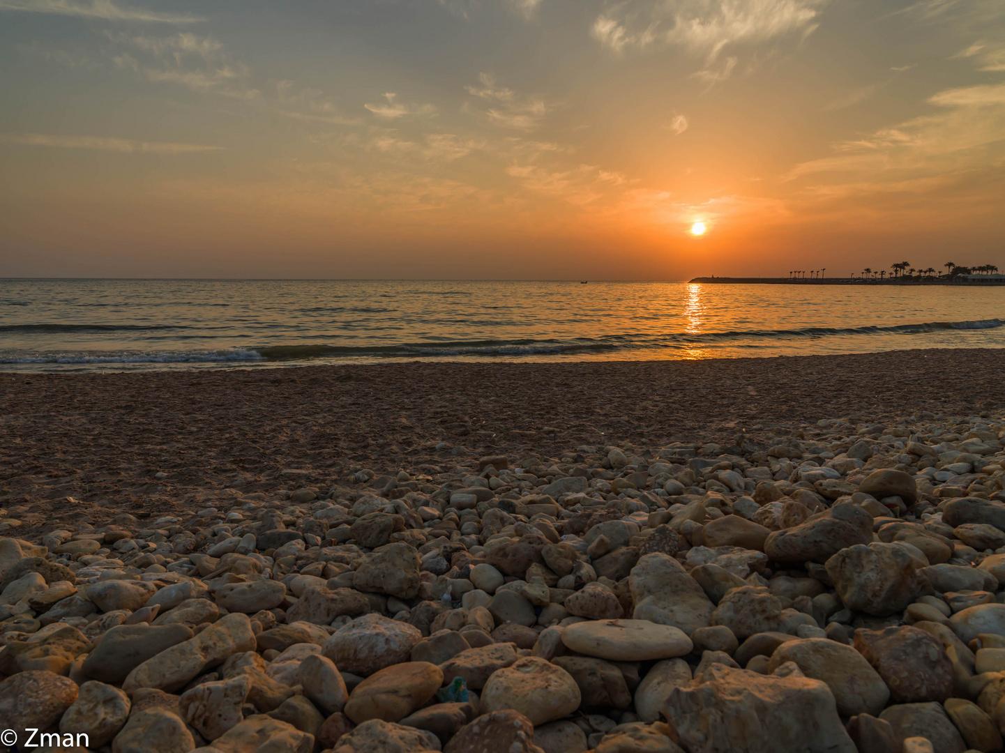 Rocks, Sands, Sea and Sunset  B0002278-10