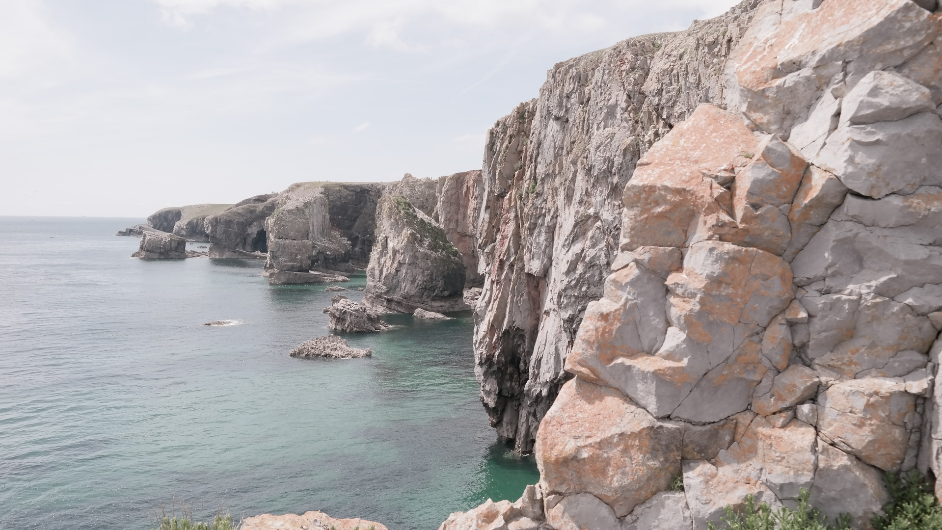 Rocky coast of Wales