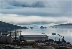 rodebay . . . mit driftenden eisbergen