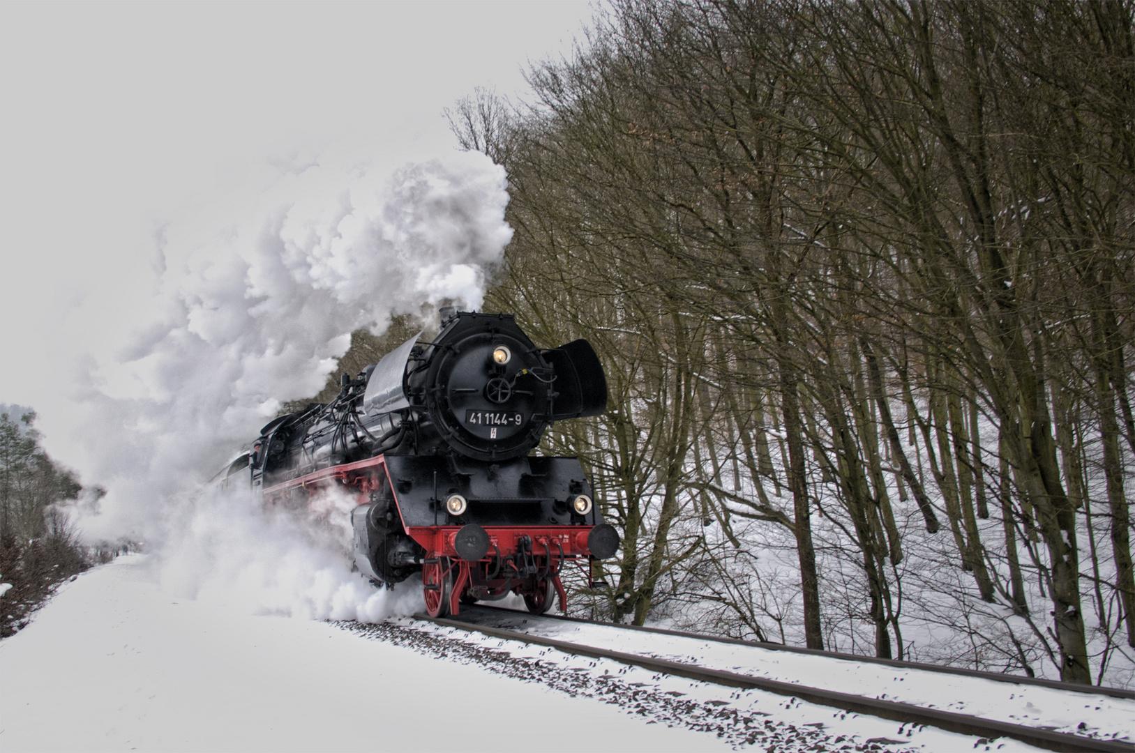 Rodelblitz 2013 - unterwegs mit 41 1144