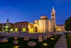 Römisches Forum mit Kathedrale 3, Zadar, Dalmatien, Kroatien