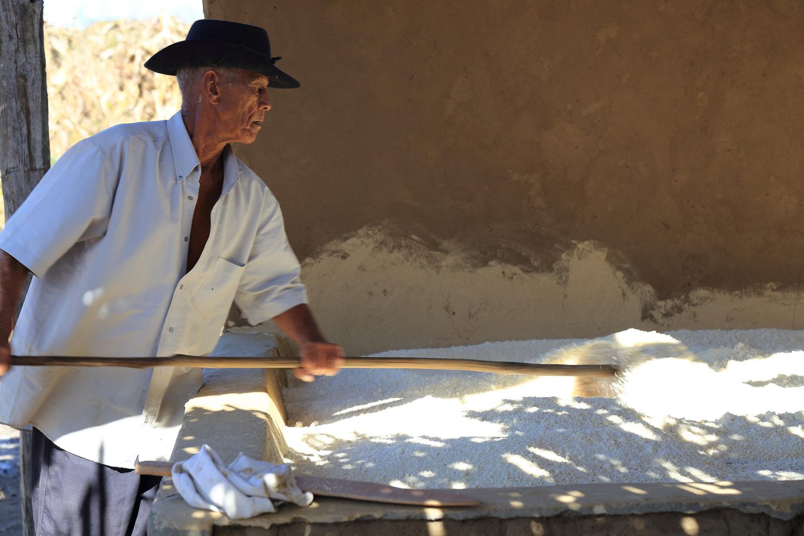 rösten des täglichen Farinha-Mehls