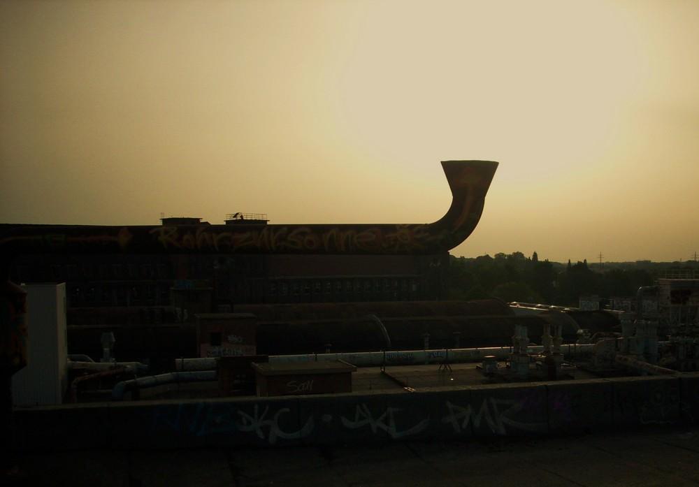 Rohr zur Sonne
