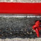 rojo vivo con gris