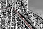 ... rollercoaster at coney island ...
