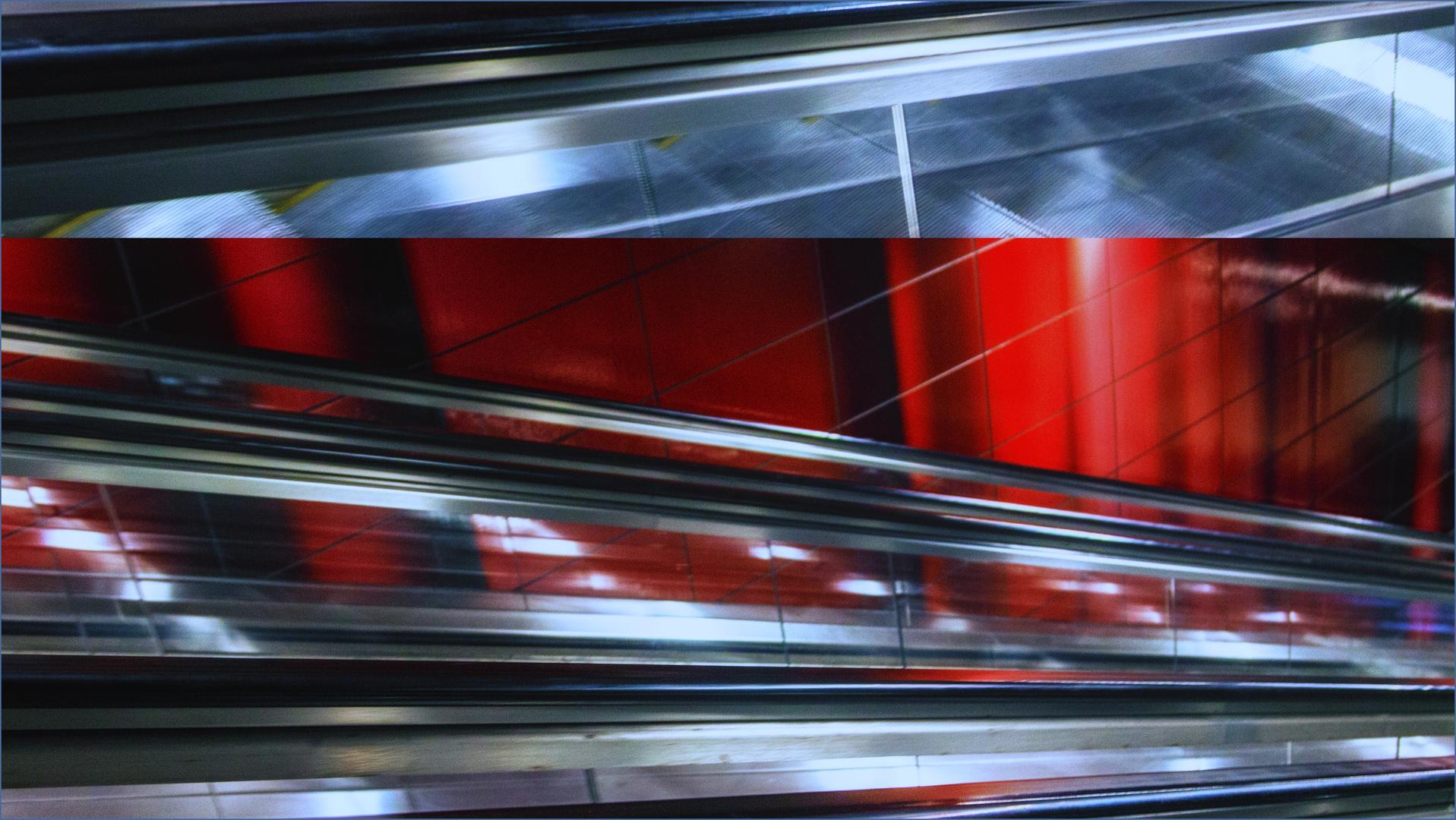 Rolltreppe abstrakt
