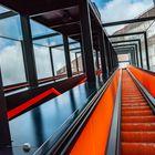 Rolltreppe zum Ruhrmuseum in der Zeche Zollverein, Essen