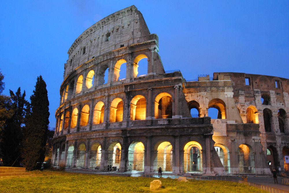 Rom Collesseum am Abend