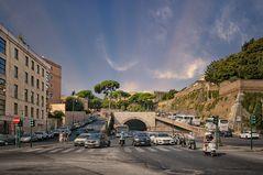 Rom gegen 9 Uhr früh Hauptverkehrstrasse -
