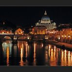 Rom, Petersdom bei Nacht