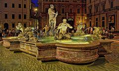 ROM - Piazza Navona bei Nacht -