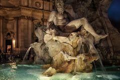 Rom Piazza Navona- Fontana di Fiumi -