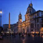 Rom Piazza Navona- schönster Platz zur blauen Stunde -