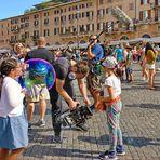 ROM - Zero on film auf der Piazza Navona -