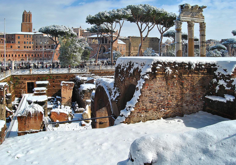 """Roma: """"Dopo la nevicata torna a splendere il sole"""""""