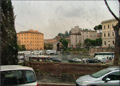 Roma from the Bus with rain