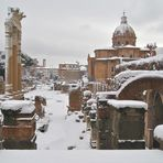 Roma sotto la neve!