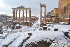 Roma sotto la neve...