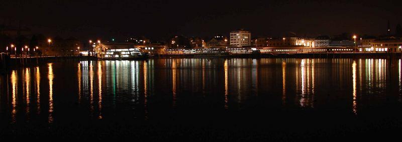 Romanshorner Hafen bei Nacht