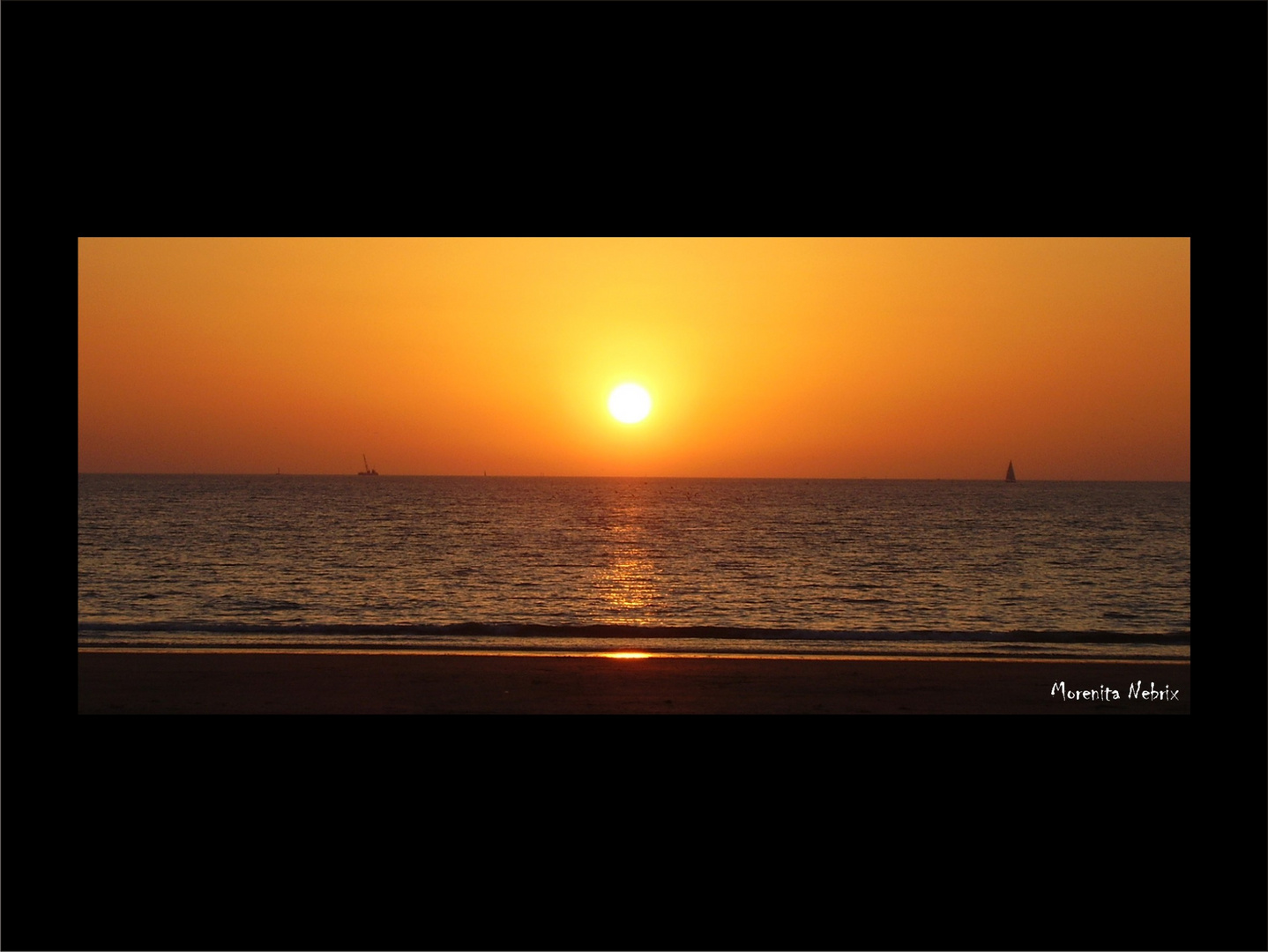 Romantica puesta de sol...