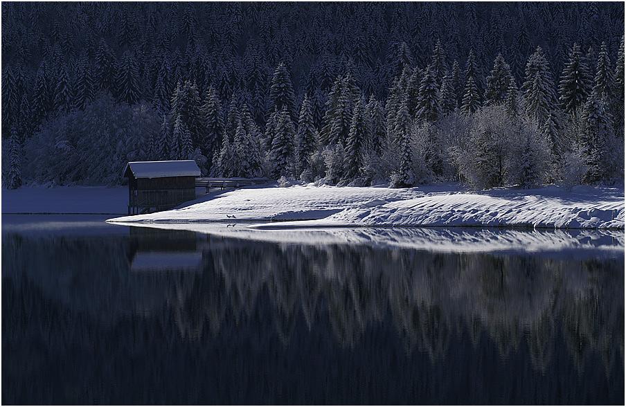 romantisch-ruhige Walchensee Winteridylle