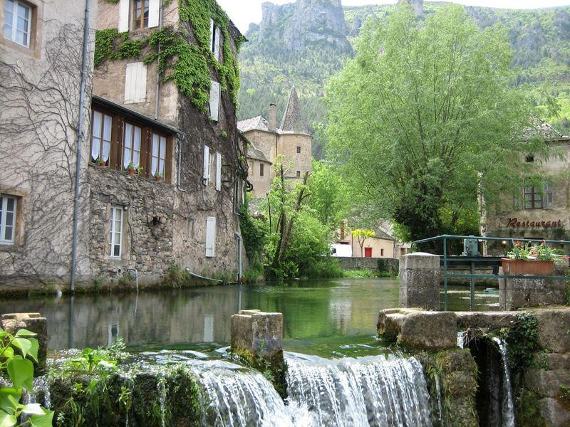Romantische Ecke in Florac Département Lozère