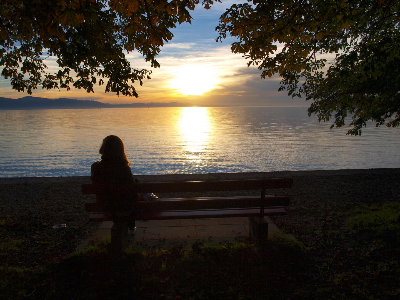 Romantischer Abend am Bodensee